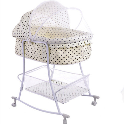 2015 New Design Baby Walker For Sale Portable Kids Cot Beige Color With Dot Metal Frame &amp; Cotton Fabric Durable &amp; Comfortable<br><br>Aliexpress