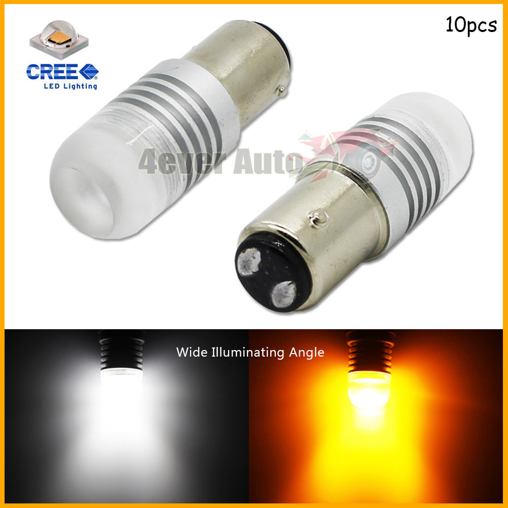 (10) 1157 2057 2357  High Power CREE XB-D Super Bright White/Amber Shine Switchback LED Bulbs for car Front Turn Signal Lights<br><br>Aliexpress