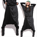 High Street Fashion Hanging Crotch Harem Pants Casual Loose Big Yards Hip Hop Plus Size Women