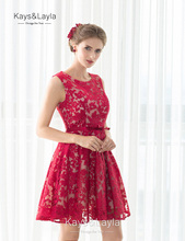 Real Photos Short Cocktail Dress Lace Homecoming Party Prom Gown Elegant Cocktail Dresses Vestidos De Coctel(China (Mainland))
