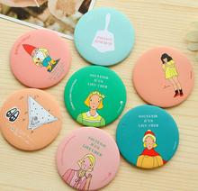 200pcs Mini Makeup Mirrors Korea Kawaii Girls Cosmetic Mirror Randomly Send (China (Mainland))