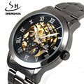 Shenhua brand mechanical watches Automatic skeleton Tungsten steel table Men s waterproof sports Watch Noctilucent
