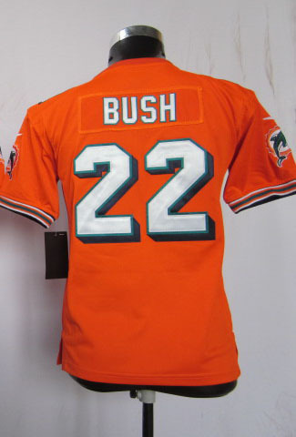 Free Shipping 2014 22 bush orange youth jerseys reggie bush jersey football jerseys(China (Mainland))