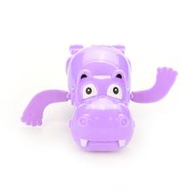 Hippo Swim Toys Baby Educational Toys Hippopotamus Behemoth Clockwork Wind Up Plastic Infant Kids Swimming Toy River Horse 1PC(China (Mainland))