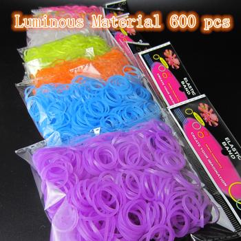 Светящийся материал 600 шт., резинки для браслетов руки девушки сетки ткачество браслеты дети плетение ткачество