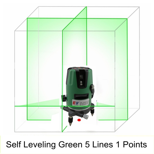 Лазерный уровень KaiTian 5 1 532nM , /Slash 5 Lines 1 Point Rotary Laser Level Green green acuangle a8832g laser level 635nm 2 cross lines 360 rotary laser levels indoor outdoor portable automatic high brightness