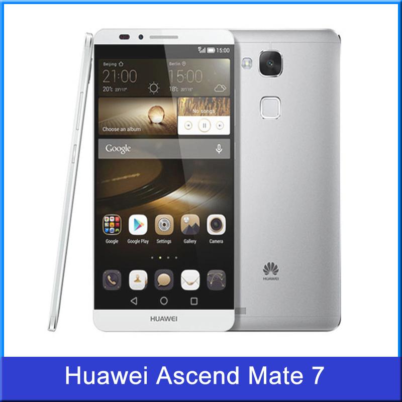 Original Huawei Ascend Mate 7 6.0 inch 4G LTE Cell Phone Kirin 925 Octa Core 1920*1080 2GB RAM 16GB ROM 4100mAH NFC Fingerprint(China (Mainland))