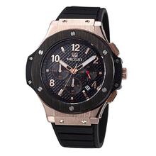 Megir CHRONOGRAPH & 24 Hours Function Men Sport Watch Silicone Gold Luxury Watch Men Top Brand Military Watch relogio masculino(China (Mainland))
