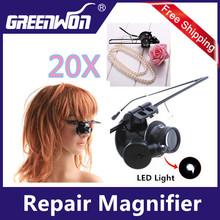 20X gafas tipo lupa para Sigle ojo con luz LED
