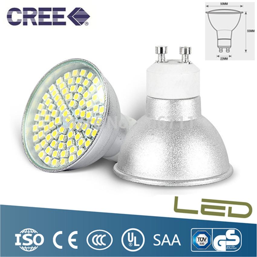 10PCS 9W led spotlight GU10 E27 80 SMD LED BEADS 3528 AC210V-240V led bulbs for lamps warm cool white led lighting(China (Mainland))