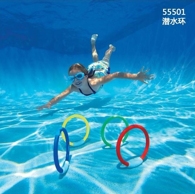 Intex outdoor fun &sport Dive ring swimming pool toy for child free shipping,four colors package(China (Mainland))