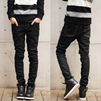 Мужчины в джинсы осень одежда марка мужчины в брюки тонкий приталенный узкие джинсы ...
