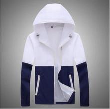 2016 Fashion High Quality Sport Men Jacket Coats, Men Causal Hooded Outdoor Jacket,Men Thin Windbreaker Zipper Coats Outwear(China (Mainland))