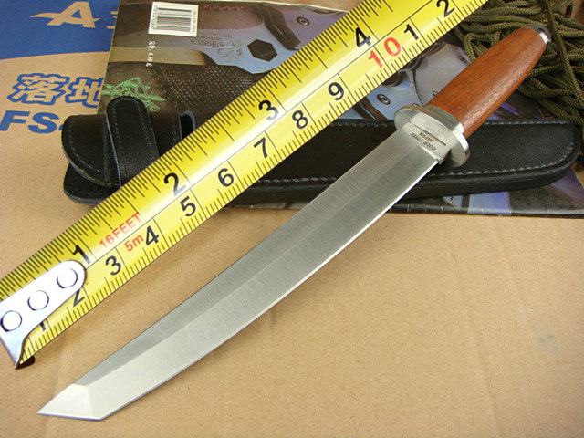 New Version Cold Steel SAN MEI Samurai Knives,440 Blade Rosewood Handle Hunting Knife,Camping Tools.(China (Mainland))