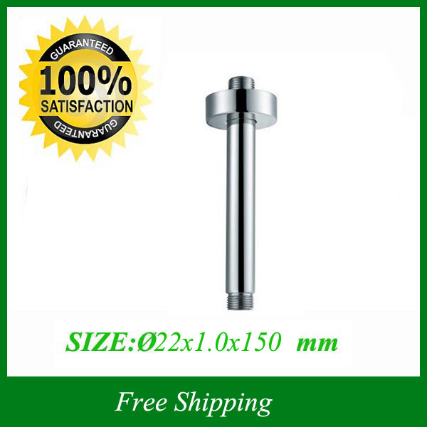 "top Ceiling G1/2"" 15cm Length Polished Chromed Copper Bathroom Bathtub Tub Shower Arm Pipe &Flange(China (Mainland))"