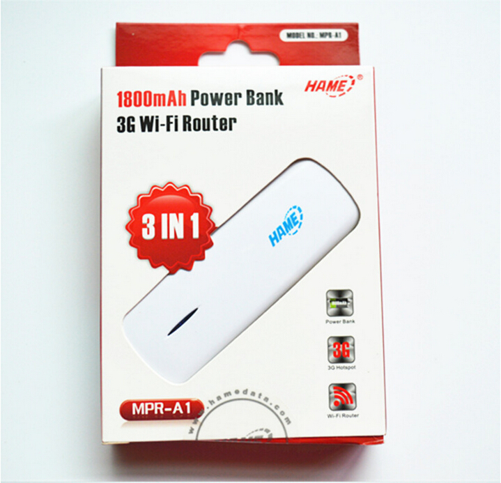 Original Hame 3 in 1 MPR-A1 3G Wireless Router + Mobile power supply ,MINI Wireless Router,3G WIFI(China (Mainland))