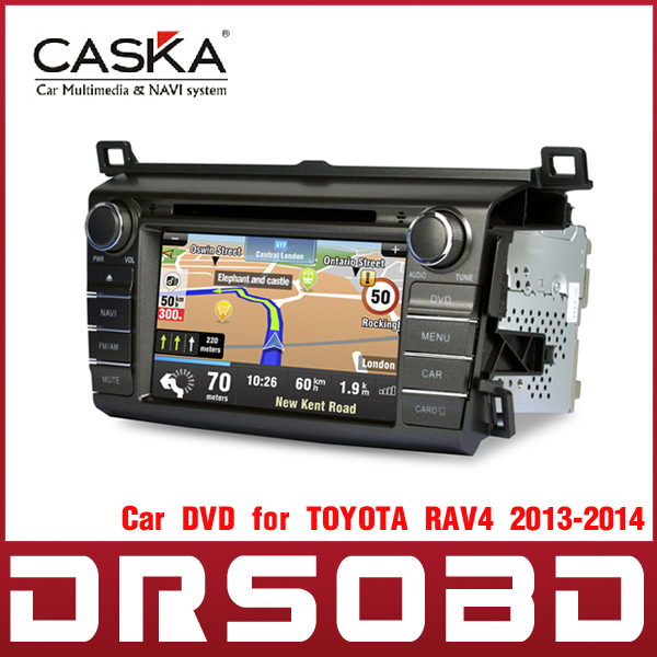 CASKA 8 inch Car In-Dash System Car DVD Player GPS Navigation System with Free Maps for TOYOTA RAV4 2013-2014(China (Mainland))