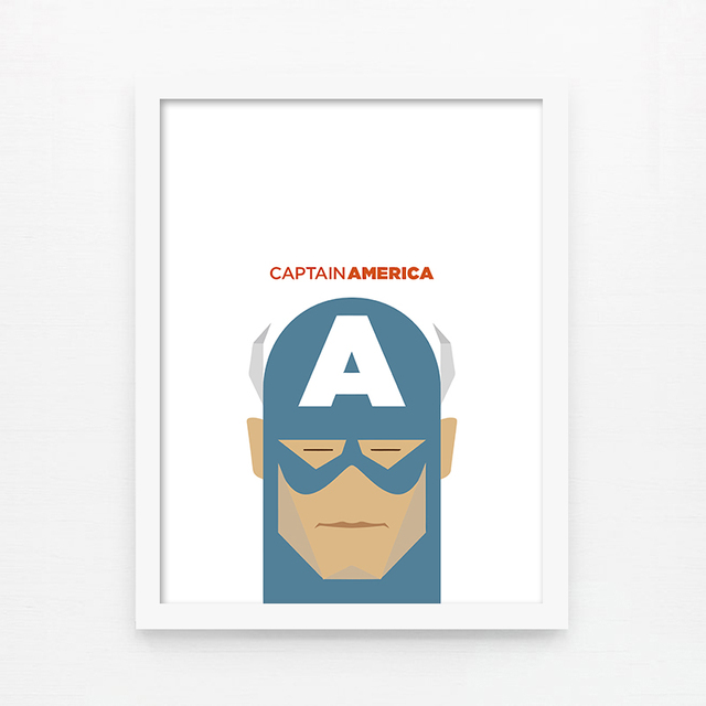 2013aug 0022 home office print captain america birthday wedding gift decoration morden brief painting photo bmw office paintersjpg