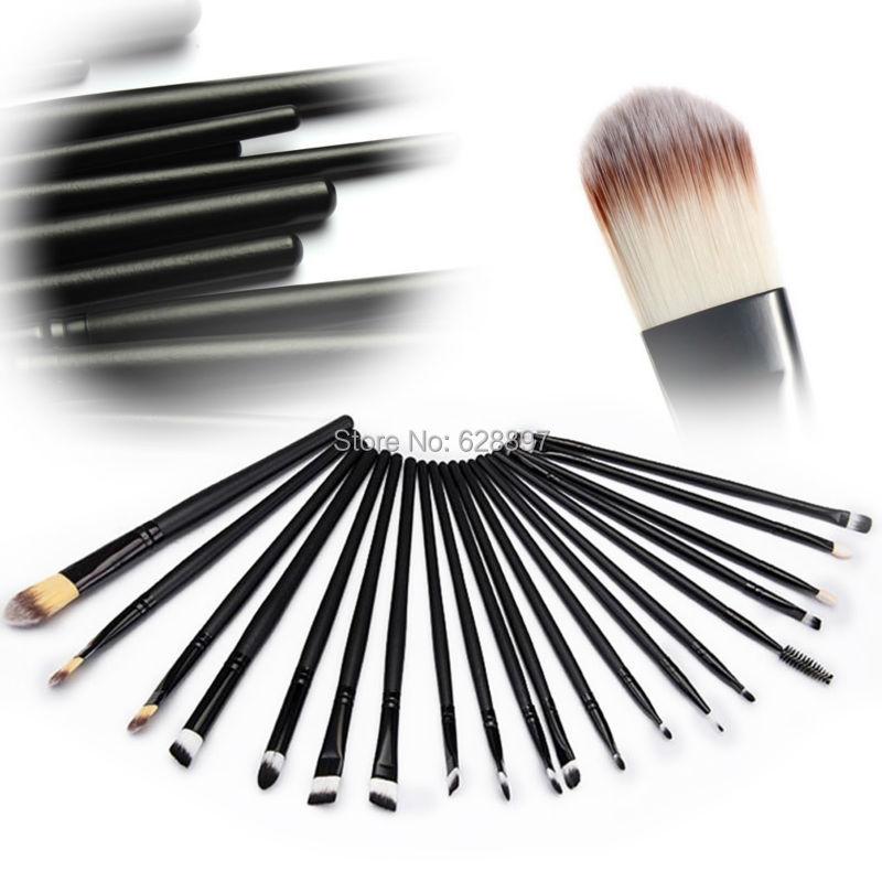 20 Pcs Black Make Up Brush Kit Tools Pinceis Profissionais Cosmeticos Eyeshadow Disposable Mascara Lip Brush Beauty Products(China (Mainland))
