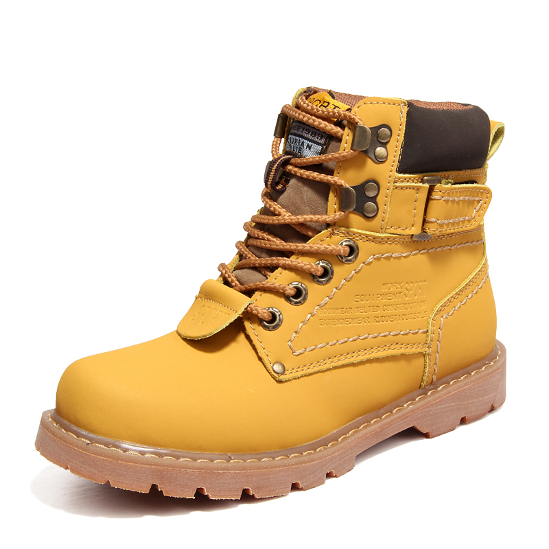 men boot genuine leather snow boots fur boots high quality men's shoes outdoor work shoes, Plus size