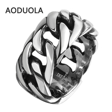 Buy Stainless Steel Rope Punk Ring Big Size rings Retro Vintage Biker Large Antique Men's Rings Seal men Rock mens Jewelry for $2.75 in AliExpress store