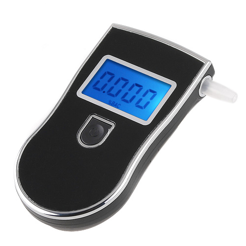 Prefessional Police Portable Digital Breath Alcohol Analyzer Meter Breathalyzer Parking Car Detector Gadgets Alcohol Tester(China (Mainland))
