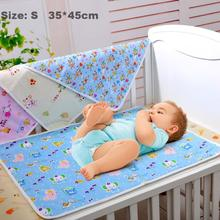 MY 2pcs Cotton cartoon waterproof baby changing mat baby products manufacturers wholesale baby mattress 35 * 45 cm(China (Mainland))