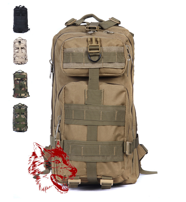 MY5304 2015 Men Women Outdoor Military Army Tactical Canvas Backpack Camping Hiking Trekking Sport Camouflage - The wolves outdoor store