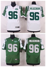 New York Jets #96 Muhammad Wilkerson Elite White and Green Team Color free shipping(China (Mainland))