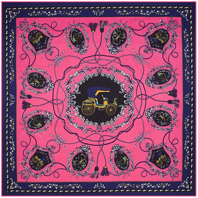 100 см * 100 см саржевые шелковый женщины 100% шелковая перевозки и веревка кисточки печать шелковый шарф Femal высокое качество шаль B125