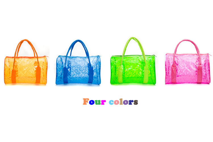 Bag Quality Hanging Directly From China Net Suppliers Candy Waterproof Women Handbags Swimming Beach Clear Travel Bags
