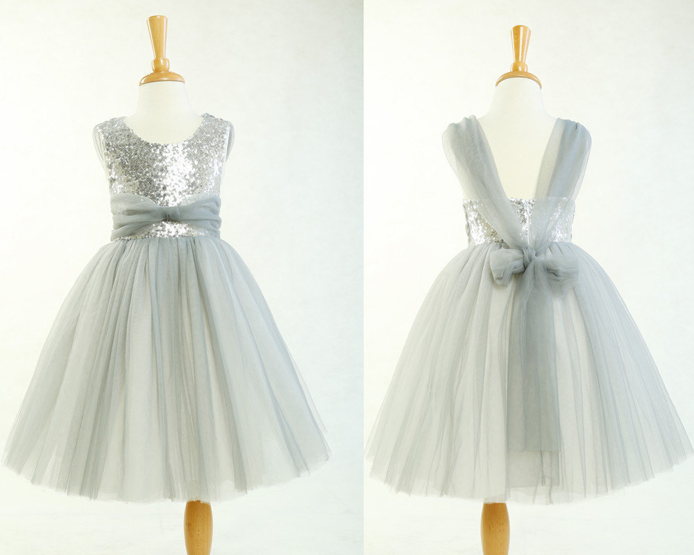 Girls Silver Dresses