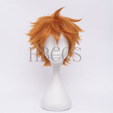 Haikyuu Shoyo Hinata 30cm Orange Anime Cosplay Wig Fashion Synthetic Hair(China (Mainland))
