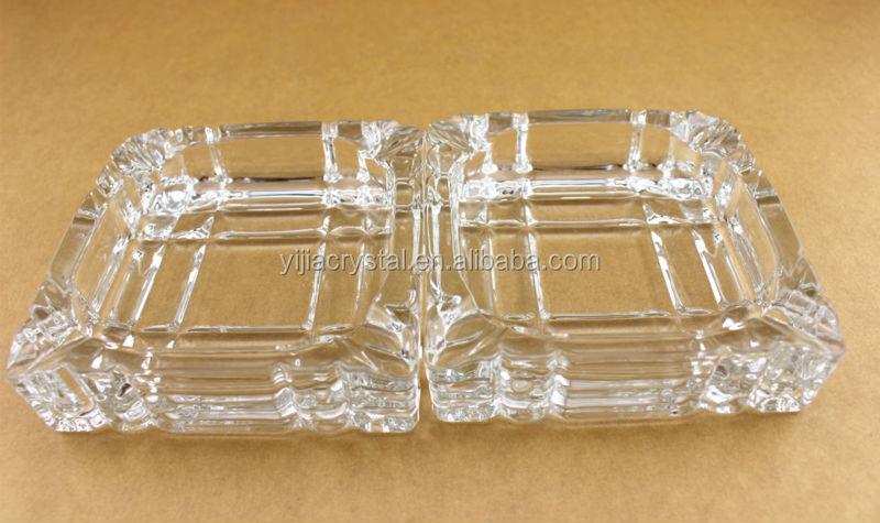 Free Shipping Hotel Crystal Glass Square Ashtray Promotional Glass Ashtray Glassware(China (Mainland))
