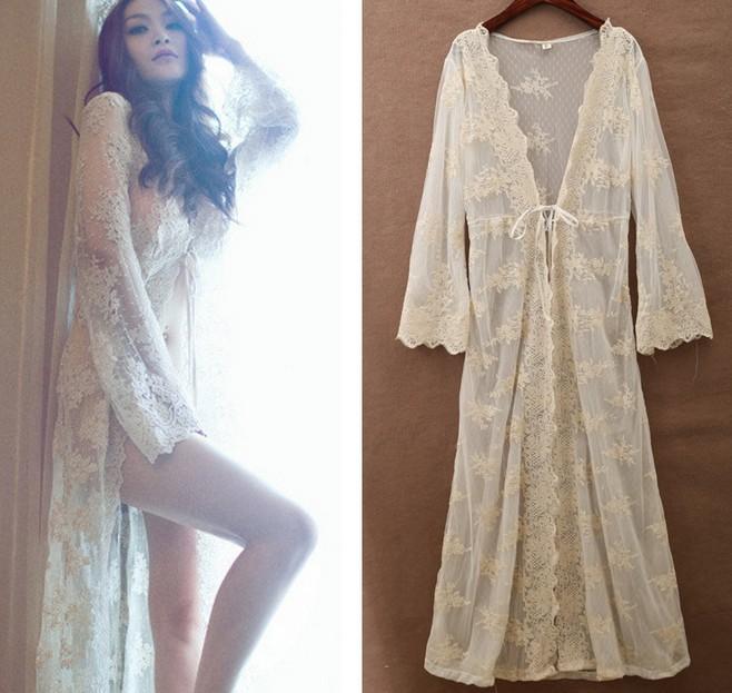 Buy NEW Fashion Crochet Maxi Dress Cover Up Summer Women Beach Swimwear Bikini Cover Lace Long