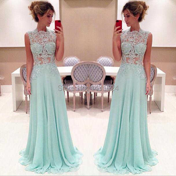 2015 Morden шифоновых линия поток пром платья дешевые высокое качество кружевными аппликациями мода формальное вечернее ну вечеринку платья