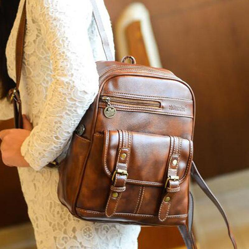 2016 New Vintage PU Leather Women Men Travel Bags Large Capacity Luggage Wearproof Backpacks Sports Unisex Versatile Travel Bag(China (Mainland))