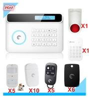 LCD Display 433Mhz Etiger Wireless GSM Alarm System Smart Safe Home Smart Security Alarm system with RFID tags and Strobe Siren
