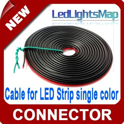Free Shipping  2pins cable extension cable for LED Stripe for single color 3528 5050 SMD led strip [ LedLightsMap ]