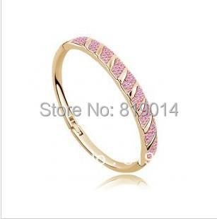 Factory Price Wholesale Hot sell Fashion Zinc Alloy Crystal Bangles Jewelry(China (Mainland))