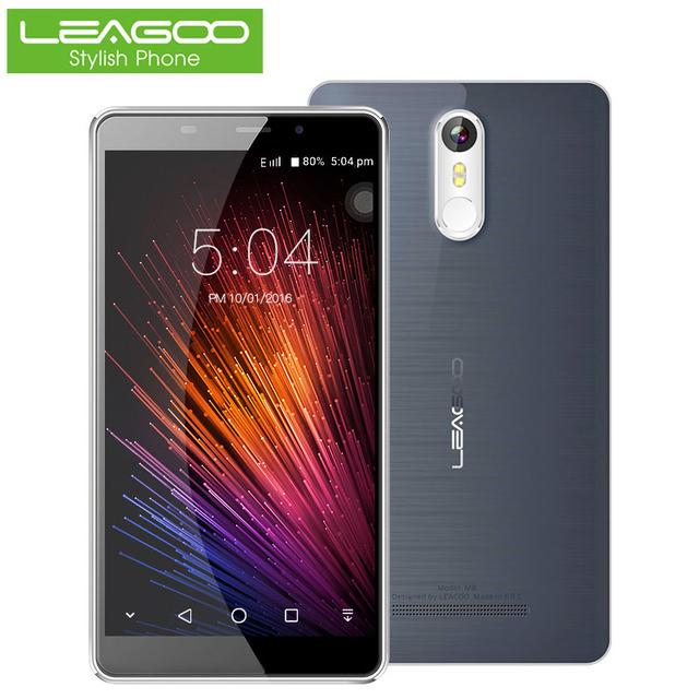 """Leagoo Смартфон 5.7 """"HD IPS 1280*720 Android 6.0 Quad Core 2 ГБ RAM 16 ГБ ROM 3500 мАч Батареи 13.0 МП Отпечатков Пальцев Мобильный Телефон"""