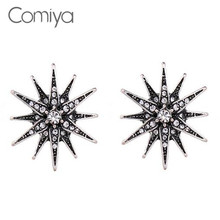 Buy Comiya boucle d'oreille femme pendante fashion antique silver color rhinestones flowers charm stud earrings statement cc earring for $1.70 in AliExpress store