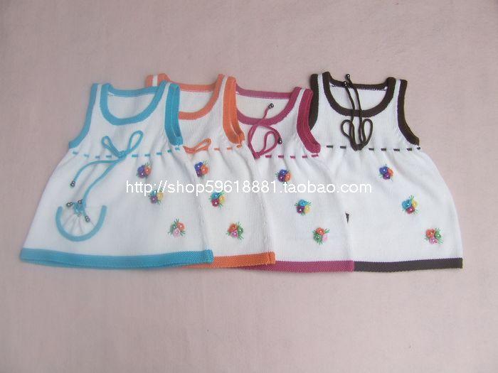 autumn winter girl dress vest wool baby dress B369#Hand-woven girls clothing infant princess dress baby girl clothes kids dress(China (Mainland))