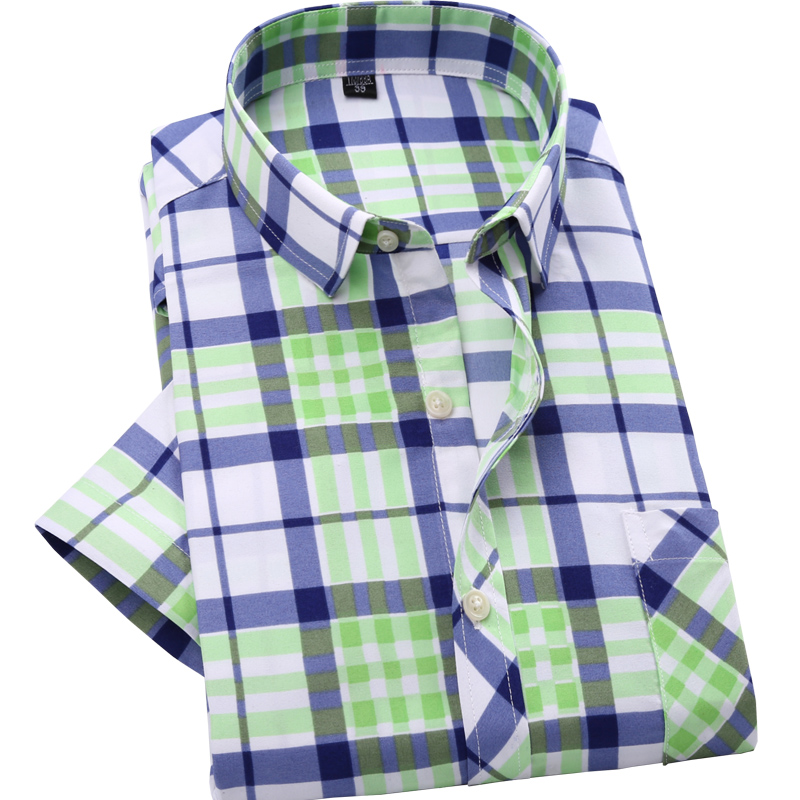 2016 summer casual font b plaid b font shirts for men brand new slim fit men