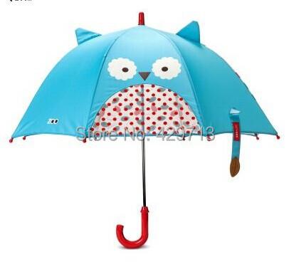 new Lovely children's zoo baby umbrella long umbrella cute cartoon pattern - owl / monkey / beetle girl boy sweet umbrellas()