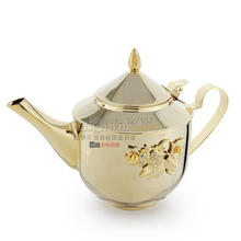 Export  price factory direct sale 750ml hot sale stainless steel teapot , tea set ,tea kettle with strainer