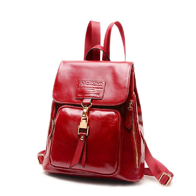 2015 New Style Women's Genuine Leather Backpack Fashion Trend Ladies Bags Stylish Girls School Bag Preppy Female Backpacks - Lightningshenzhenco., LTD store