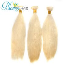 DHL Free Shipping 3pcs Mix Length 12″-22″ Top Hair Extensions Better Quality Ms Lula Hair 6A 613 Blonde Brazilian Straight Hair