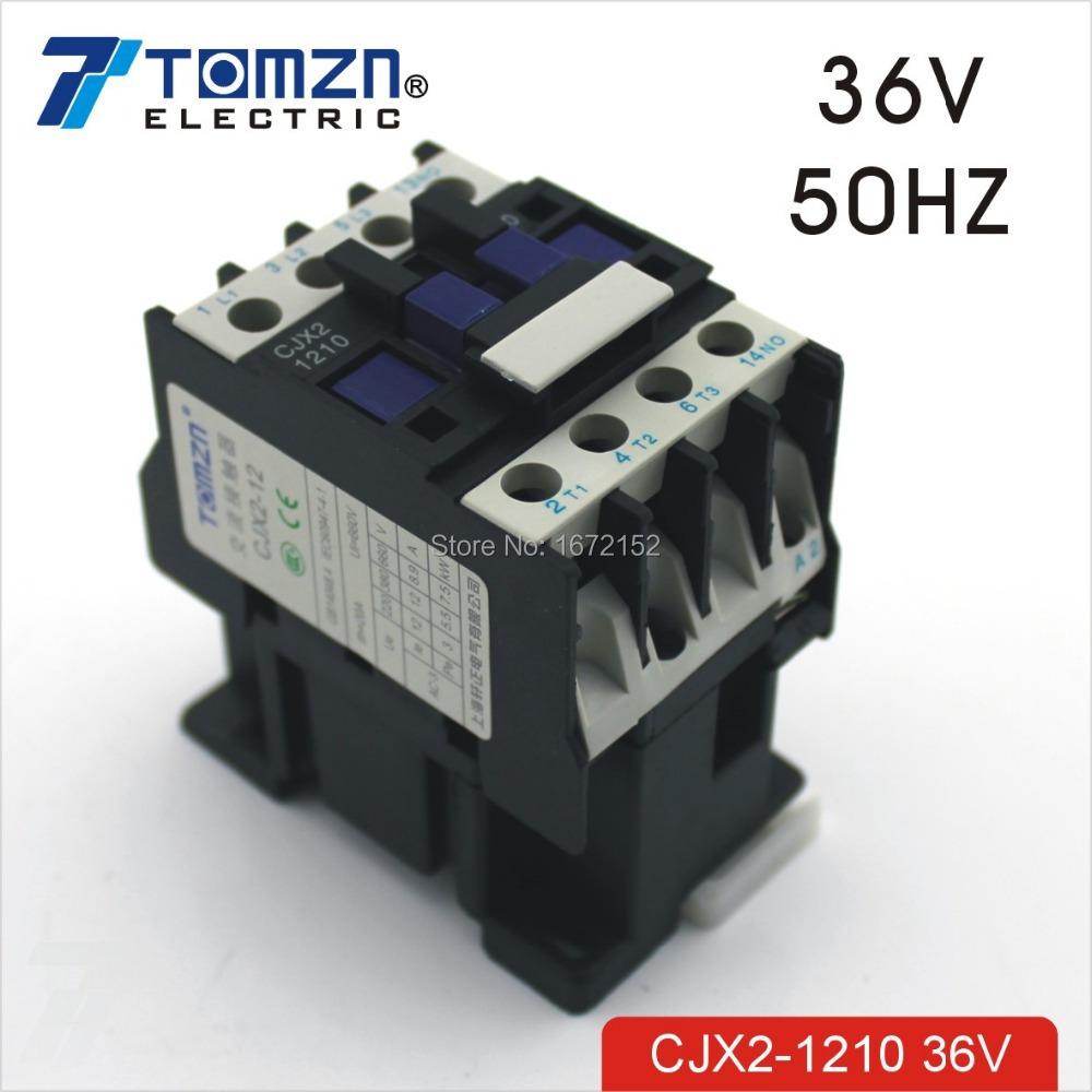 CJX2 1210 AC contactor LC1 12A 36V 50HZ<br><br>Aliexpress