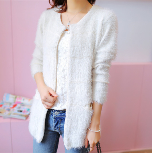 2015 Women Winter Knitted Dress Sweater Lady's Long Casual Sweater Cardigan(China (Mainland))
